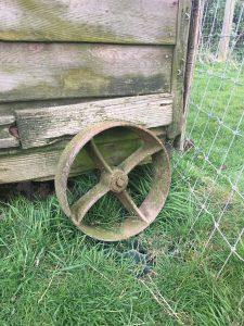 chicken tractor steel wheels