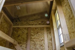 OverEz chicken coop ceiling